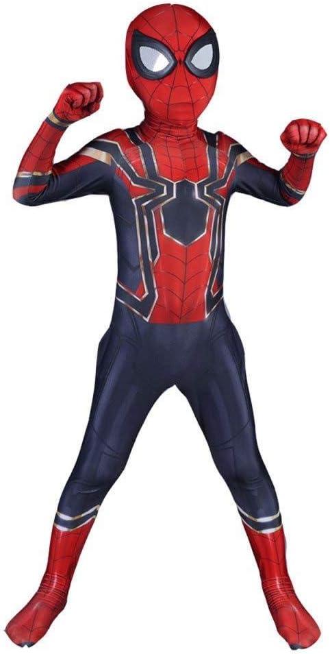 PIAOL Iron Spiderman - Traje para Niños Cosplay Conjunto Mono ...
