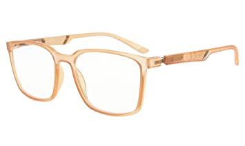 3f0e5f3b5cc7 Image Unavailable. Image not available for. Color  Eyekepper Large Frame  Readers Special Spring Hinges Reading Glasses Men Women (Champagne