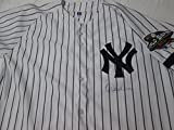 DEREK JETER signed 2001 World Series New York Yankees autographed authentic pinstripe baseball jersey JSA full letter authenticated