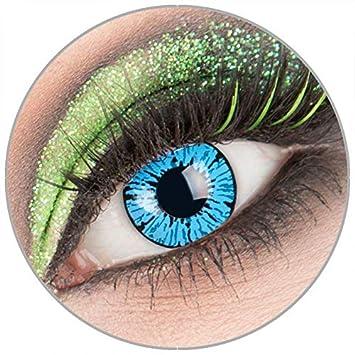 Kontaktlinsen blau ohne Stärke Funlinsen*Cosplay*Karneval*Halloween*Kostümparty*