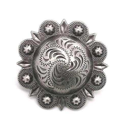 - Berry Concho Antique Silver Screw Back 1