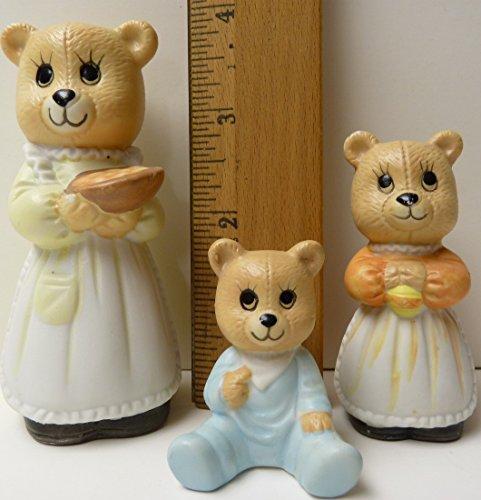Set of 3 Porcelain Bear Family
