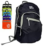 Flash Sale! Best Foldable Ultra Lightweight Packable Backpack 35L (Black Large) For Men and Women Handy Daypack Travel, Camping, Outdoors, Hiking - Sale By Explore Outfitters