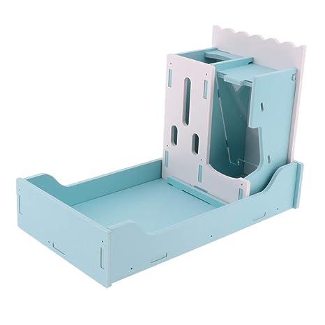 P Prettyia 1 Pieza de Estante para Platos Azul