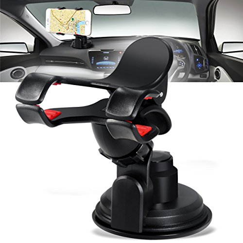 Car Holder, Breett Universal Car Windshield Mount Holder for Smart Mobile Phones,iPhone 6 plus/6/5s/4, Samsung Galaxy S6/S5/S4/S3/Note 4/3, GPS