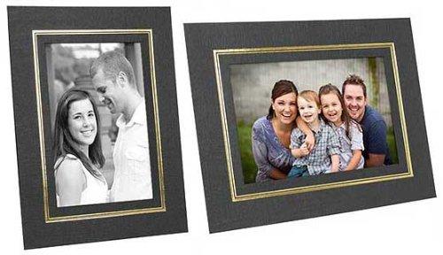 DUAL EASEL Cardstock frame for Certificates w/Gold foil Border sold in 25's - 8.5x11 by SendAFrame