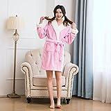 NEWCOSPLAY Adult Unisex Pink Pig Hooded Bathrobe