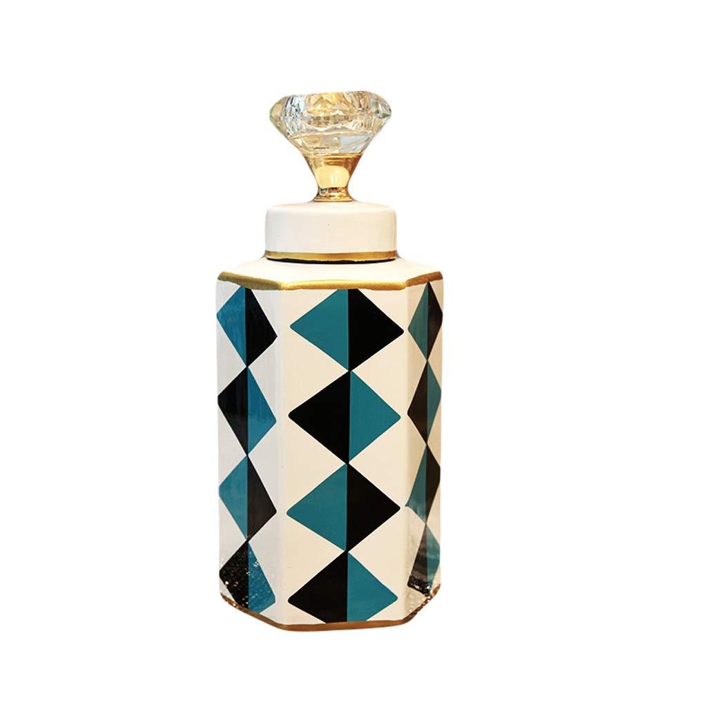 LIULIJUN 花瓶ホームモデルルームセラミック花瓶花飾り装飾クリエイティブモダンリビングルームコーヒーテーブル装飾 (Size : S) B07T58LRJP  Small