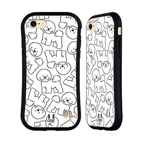 Head Case Designs Bichon Frise Dog Breed Patterns 4 Hybrid Case for iPhone 7 / iPhone 8 (Bichon Frise Vest)