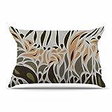 KESS InHouse Viviana Gonzalez ''Africa - Abstract Pattern II'' Gray Green Pillow Sham, 40'' x 20''