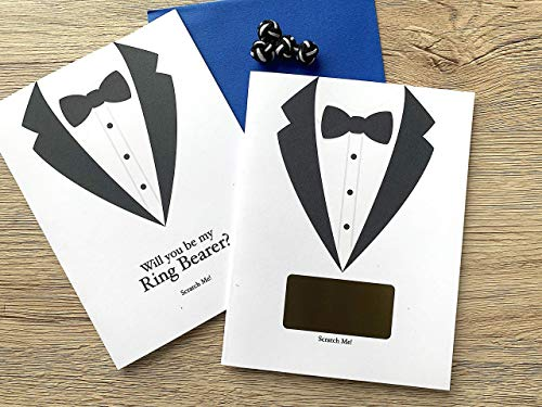 Will You Be My Ring Bearer Scratch Off Card Tuxedo