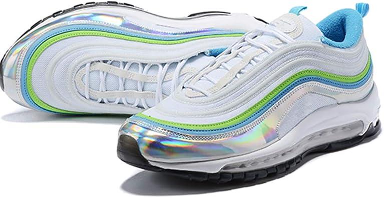 Top Dog MAX 97 - Zapatillas de Running para Hombre, Blanco (White and Green), 41 EU: Amazon.es: Zapatos y complementos