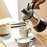 Bialetti 5410 Kremina Espresso Maker, Silver/Black