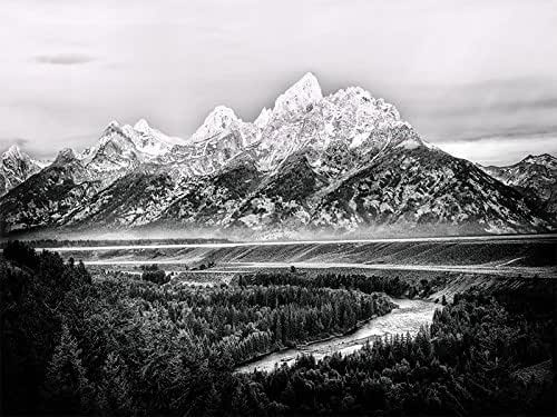 Amazon.com: Grand Tetons | Ansel Adams View | Snake River