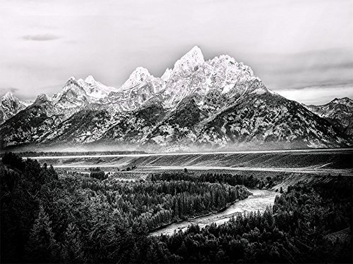 Grand tetons ansel adams view snake river black white print jackson