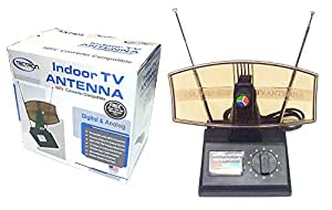 Antenna Tv Indoor Ant-850 HDTV Converter Compatible, Digital & Analog, Adjustable Dual Antennas