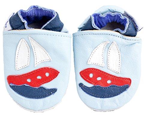 Shoozies Baby Jungen Krabbelschuhe & Puschen Blau hellblau