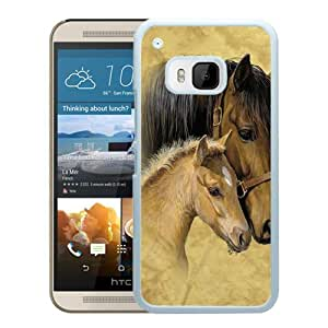 horse White HTC ONE M9 Screen Phone Case Newest and Genuine Design