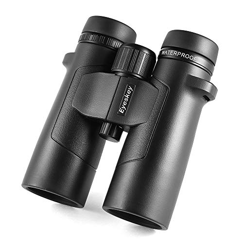Eyeskey ED 10X42 Hunter Binoculars for Adults | Ultra Bright & Crystal | Close Focus | Waterproof | Fog Proof | Shake Proof | HD Wide Angle Binos for Outdoor Hunting Wildlife Watching & Sports Events