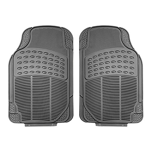 FH GROUP F11306-3ROW Quality All Weather Rubber Auto Floor Mats Liner - Gray by FH Group (Image #1)