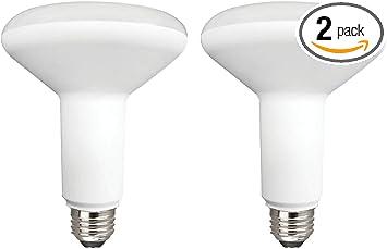 Dimmab Energy Star Certified TCP 65 Watt Equivalent LED BR30 Flood Light Bulbs