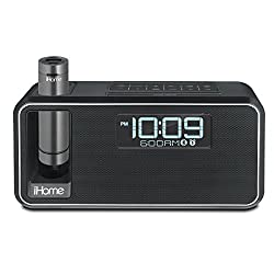 iHome iKN105BC Dual Charging Bluetooth Stereo Alarm Clock Radio/Speakerphone with NFC, Removable Power (Certified Refurbished)