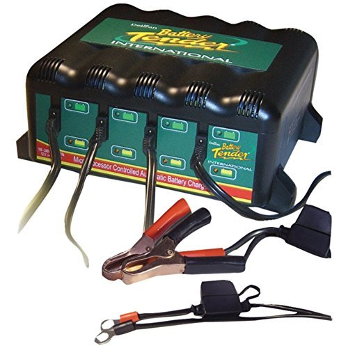 Battery Tender 4-Bank Battery Charger W/ 4 Independent Stations 022-0148-DL-WH Marine RV Boating Accessories by Battery Tender