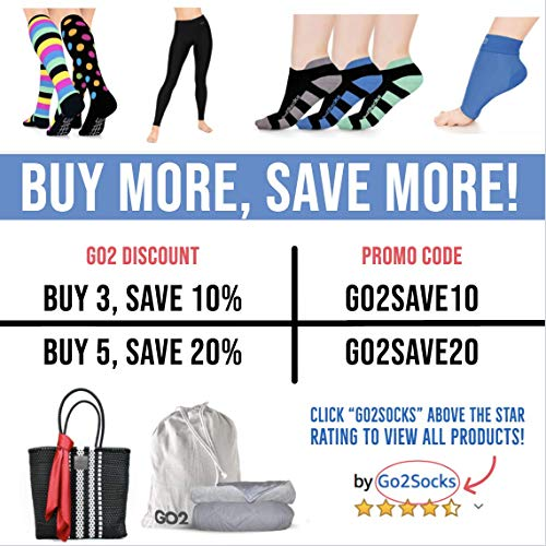 Go2 Compression Socks for Men Women Nurses Runners| Medium Compression Stockings