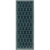 Ottomanson Authentic Collection Contemporary Trellis Design Kitchen Runner Rug, 20 X 59, Green