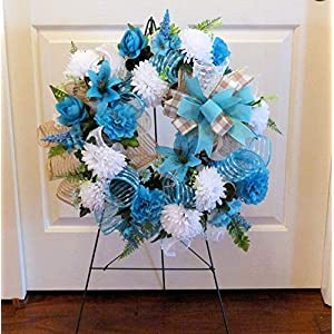 Summer Cemetery Wreath, Father's Day Cemetery Wreath, Summer Grave Wreath 53