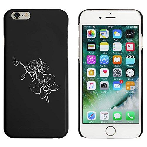 Noir 'Orchidées en Fleurs' étui / housse pour iPhone 6 & 6s (MC00033925)