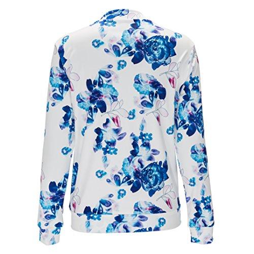 Donna Giacche Camicette Blu Juleya Autunno Cappuccio Nero Casual Felpe 2xl Rosa M Cappotti Fiori dqBxt5