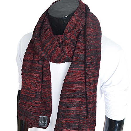 Mens Long Scarf Vintage Knitted Cold Weather Scarves