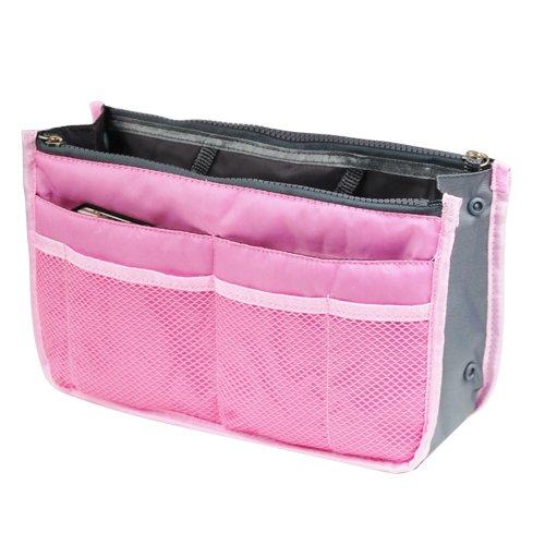 Smallwise Trading Handtasche Organizer Tasche Shopper Ordnung Reise Make Up Kosmetik Tool Stift (Pink)