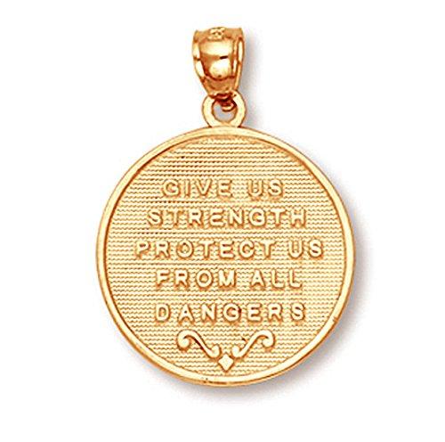 Petits Merveilles D'amour - 14 ct 585 / 1000Deux tons Or Sankt Georg Pièce de Monnaie Pendentif