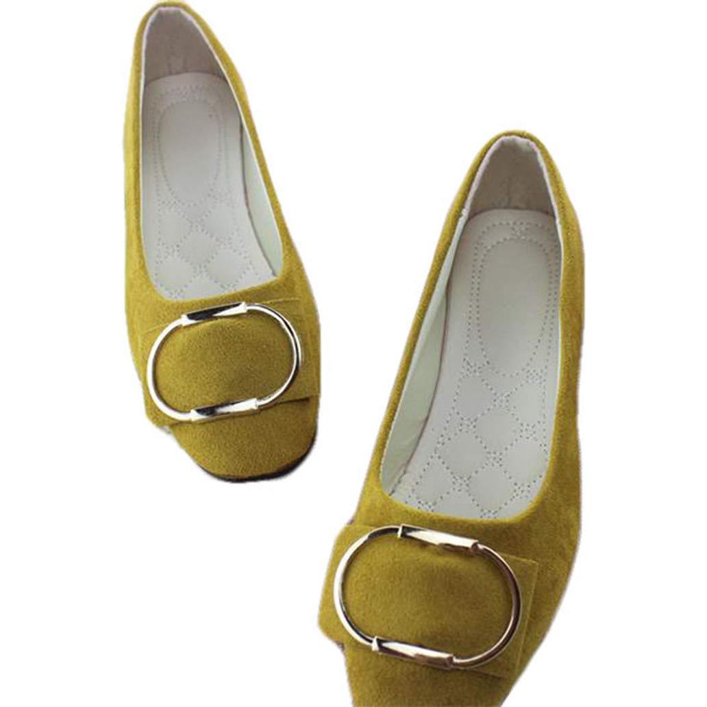York Zhu Women Flats Shoes Low-Top Ballet Flat Shoes Woman Loafers Plus Size Shoes