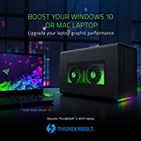 Razer Core X Chroma - Thunderbolt 3 External Graphics Card Housing (Egpu) para Windows 10 y Mac - Solución gráfica Externa para portátiles con ...