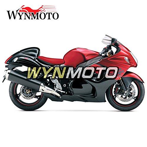 WYNMOTO 赤外装パーツセット適応スズキ 鈴木 GSXR1300 GSX-R 1300 2008-2016 年インジェクション ABS 樹脂ボディキットパネルボディカウル車体   B077G2KN49