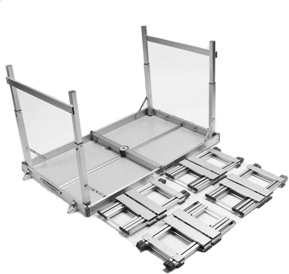 4人のアルミニウム椅子の高さ調節可能なポータブルが付いている4人用折りたたみピクニックテーブル