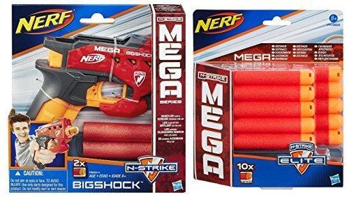 Bundle  Nerf N Strike Mega Bigshock Blaster 1  Nerf N Strike Elite Mega Dart Refill Playset  10 Pack