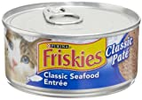 Friskies Cat Food Classic Pate, Seafood Entree 5.5-Ounce Cans (Pack of 24), My Pet Supplies