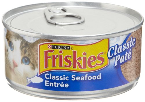 Purina Friskies Pate Classic Seafood Entree Cat Food - (24) 5.5 oz. Pull-top Can