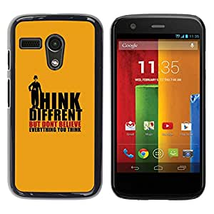All Phone Most Case / Oferta Especial Duro Teléfono Inteligente PC Cáscara Funda Cubierta de proteccion Caso / Hard Case Motorola Moto G 1 1ST Gen // THINK DIFFERENT - CHAPLIN