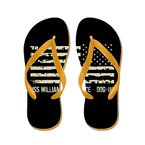 CafePress USS William P. Lawrence - Flip Flops, Funny Thong Sandals, Beach Sandals Orange