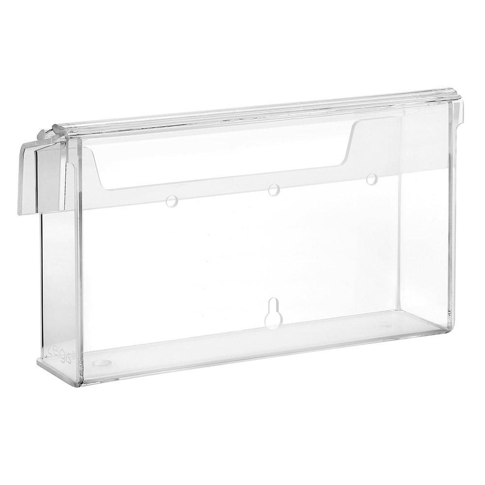 /zeigis/® in materiale acrilico trasparente resistente alle intemperie per esterno con coperchio vetro/ DIN lungo Prospetto scatola//Espositore per volantini in formato orizzontale