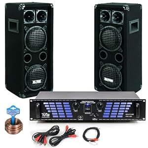 Sistema de Altavoces PA 6000 W Amplificador Mezclador DJ-220
