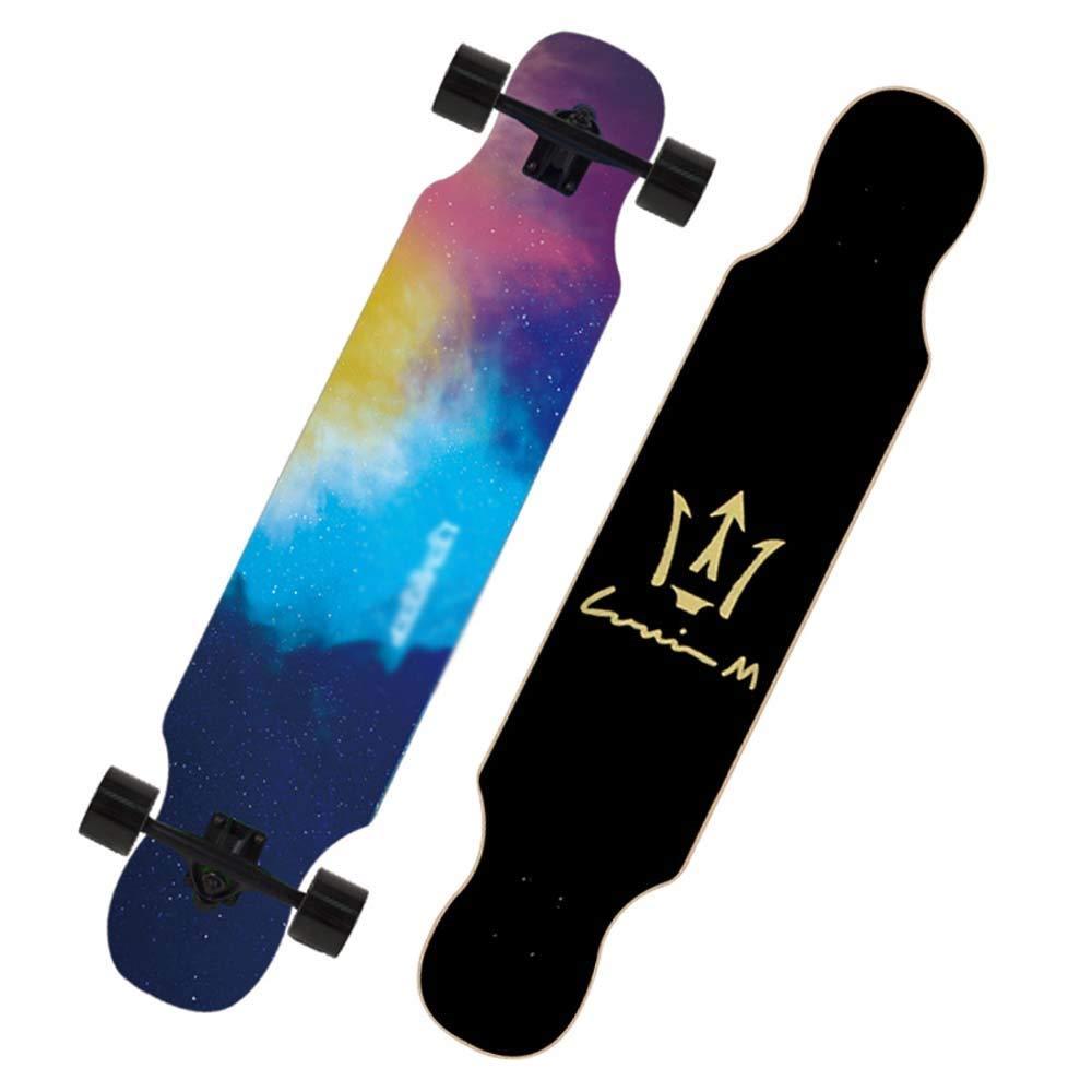 KYCD 42-Zoll-Longboard, professionelles Skateboard, 4-Rad-Brush-Street-Board für für für Anfänger und Junge Leute (Farbe   A) B07PXYYM43 Longboards Qualität und Verbraucher an erster Stelle 93fd54