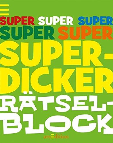 Superdicker Rätselblock