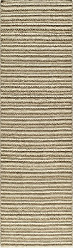 Momeni Rugs MESA0MES-3NAT2380 Mesa Collection, 100% Wool Hand Woven Flatweave Transitional Area Rug, 2'3