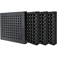 BXI Exercise Equipment Mat - 4 x 4 x 0.8 Inches 4 Pack Non-slip Anti Vibration Treadmill Mat, Heavy Duty Steel Embeded…